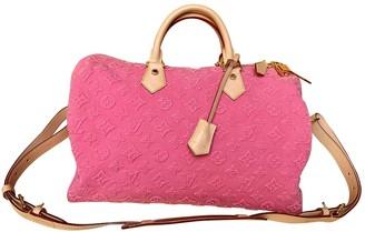 Louis Vuitton Speedy BandouliAre Pink Denim - Jeans Handbags
