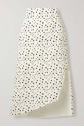 Silvia Tcherassi Gimme Asymmetric Polka-dot Cotton-blend Skirt - White