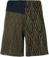 Circus Hotel geometric pattern shorts - women - Viscose/Polyester - 40