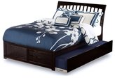 Atlantic Orleans Espresso Wood Full Flat-panel Footboard With Urban Trundle Bed