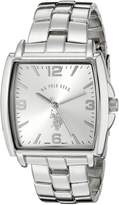U.S. Polo Assn. Men's Tonneau Dial Metal Link Watch USC80040