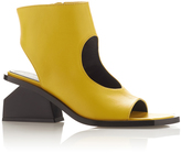 Marni Tronchetto Open Toe Ankle Boot in Yellow with a Black Block Heel