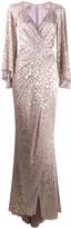 Talbot Runhof metallic-thread long dress