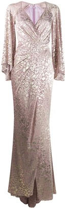 Talbot Runhof Metallic-Thread Long Dress