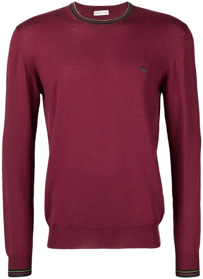 Etro slim fit crew neck sweater