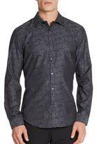 Calvin Klein Slim-Fit Marbled Cotton Shirt