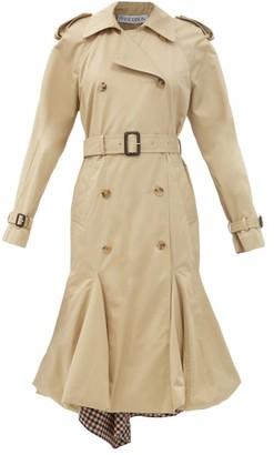 J.W.Anderson Panelled-hem Cotton-gabardine Trench Coat - Beige