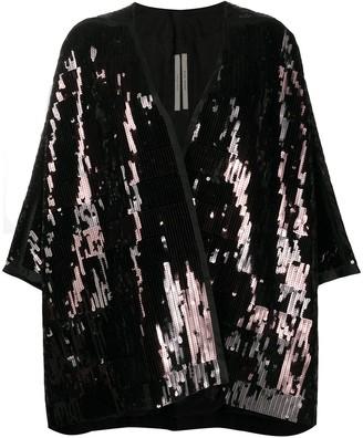 Rick Owens Oversized Sequin Kimono