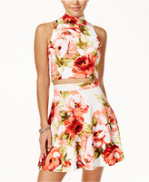Emerald Sundae Juniors' 2-Pc. Floral-Print Fit and Flare Dress