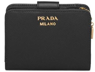 Prada charm Saffiano wallet