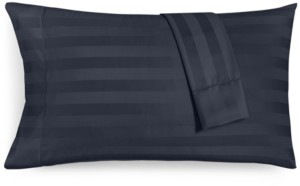 """Charter Club Damask 1.5"""" Stripe Standard Pillowcase Set, 550 Thread Count 100% Supima Cotton, Created for Macy's Bedding"""