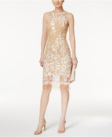 Betsey Johnson Embroidered Illusion Sheath
