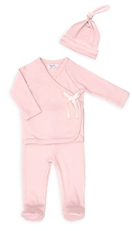Tun Tun Girls' Kimono Rib Knit Top & Footie Pants Set - Baby