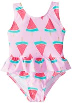 Snapper Rock Girls' Watermelon Skirted One Piece Swimsuit (324mos) - 8155095