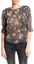 Dex Ruffled Floral Blouse