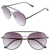 Quay Lickety Split 55mm Aviator Sunglasses