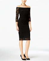 INC International Concepts Off-The-Shoulder Lace Sheath Dress, Only at Macy's