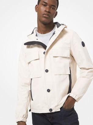 Michael Kors Woven Hooded Jacket