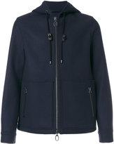Lanvin zipped hooded jacket - men - Viscose/Virgin Wool - 48
