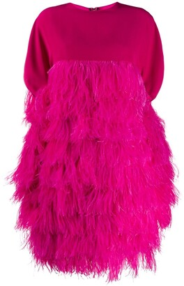 Gianluca Capannolo Short Feather Dress