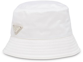 Prada Logo-Plaque Bucket Hat