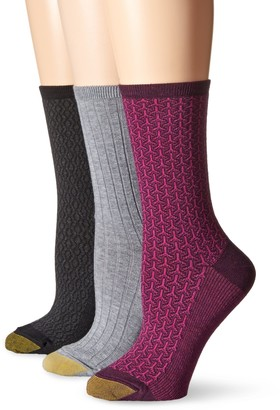 Gold Toe Women's Berkshire Texture 3 Pack