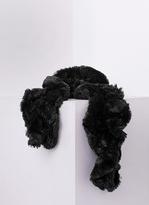 Missy Empire Alina Black Twisted Fluffy Scarf