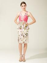 Vera Wang Printed Chiffon Flutter Dress