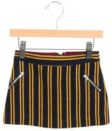 Bonpoint Girls' Wool Striped Skirt