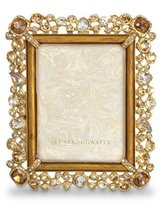 "Jay Strongwater Claudia Bejeweled 3"" x 4"" Frame"