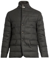 Moncler Rodin Wool-flannel Quilted-down Coat
