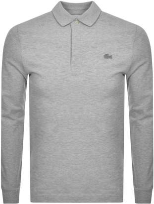 Lacoste Long Sleeved Polo T Shirt Grey
