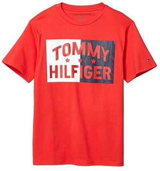 Tommy Hilfiger Elliot Tee (Big Kids) (High Risk Red) Boy's Clothing