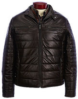 Roundtree & Yorke Lambskin Leather Quilted Moto Jacket