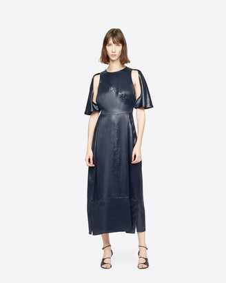 3.1 Phillip Lim Lacquered Cape Dress