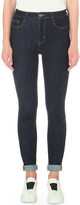 Maje Pacino skinny high-rise turn-up jeans