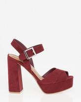Le Château Suede-Like Peep Toe Platform Sandal