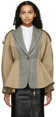 Alexander McQueen Beige Gabardine Spliced Jacket