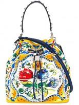 Dolce & Gabbana Majolica print bucket tote