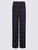 M&S Collection Printed Wide Leg Trousers