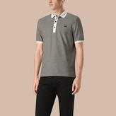 Burberry Mercerised Cotton Piqué Polo Shirt