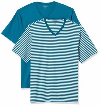 Amazon Essentials Men's 2-Pack Loose-Fit Short-Sleeve V-Neck T-Shirt