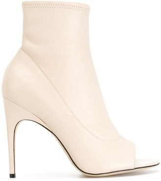 Sergio Rossi open toe ankle boots