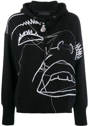 Diesel Black Gold illustrated pattern hoodie