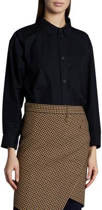 Balenciaga Twisted Poplin Shirt