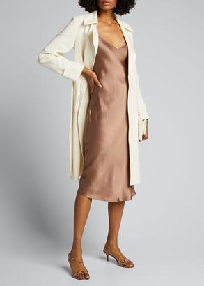 L'Agence Jodie V-Neck Silk Slip Dress