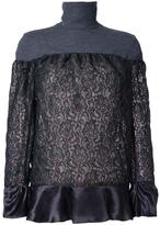 Kolor lace panel top - women - Polyester - 1