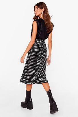 Nasty Gal Womens Relaxed Star Print Slit Midi Skirt - Black - 12