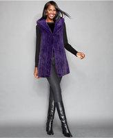 The Fur Vault Knitted Mink Fur Hooded Vest