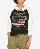 Denim & Supply Ralph Lauren Men's US Flag Eagle Logo French Terry Hoodie